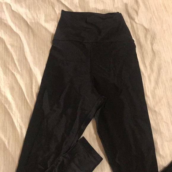 American Apparel Pants - American Apparel Shiny Nylon Black Leggings